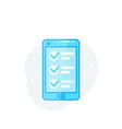 online survey form in smartphone vector image vector image