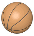 orange basketball ball on white background vector image