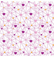 pink web hearts seamless repeat pattern vector image vector image