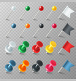 pins flags tacks colored pointer marker pin flag vector image