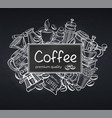 poster template coffee vector image