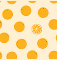 ripe fruit on a plain pattern mandarin seamless vector image