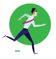 Running businessman in suit vector image vector image