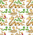 Seamless background with snakes vector image