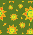 seamless color pattern with hand-drawn flowers vector image vector image