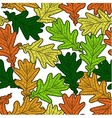 seamless pattern made from oak leaves vector image vector image