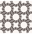 Seamless pattern with textured leaves vector image