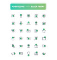 set of 30 line icons black friday vector image vector image