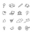sketchy doodle web network shop computer icon set vector image