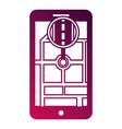 smartphone gps navigation pointer flag app vector image