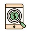 smartphone money anlaysis business financial vector image