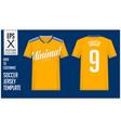 soccer jersey football kit minimal style vector image