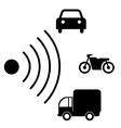 Speed road radar icon Notice traffic symbol vector image vector image