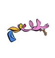 stock pink stork vector image vector image