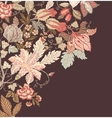 Stylish Vintage Floral Background vector image vector image