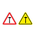 Warning sign attention hammer Hazard yellow sign vector image vector image