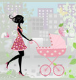 Woman pram4 vector | Price: 1 Credit (USD $1)
