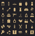 woman shoe icons set simple style vector image vector image