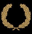 wreath oak branches vintage vector image vector image