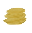 Yellow smear of paint vector image vector image