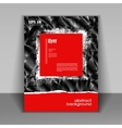 booklet with modern red square vector image