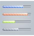 progress bar on gray background Eps10 vector image
