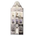 classic house facade composition vector image