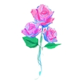 The cute Rose on white background vector image