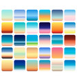 30 sunset sky gradients backgrounds set vector image vector image