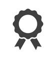 achievement badge black icon on white background vector image vector image