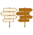 arrows wooden sign vector image vector image