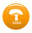 baobab tree icon orange vector image vector image