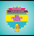 big clearance offer or end of season sale banner vector image vector image