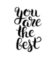 black and white modern calligraphy positive quote vector image