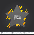 black badge star shaped sticker vector image vector image