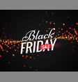 black friday sale poster with light sparkles vector image vector image