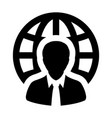 business icon man global network person avatar vector image