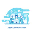 business team teamwork collaborationflat line vector image vector image