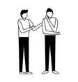 businessmen team characters vector image