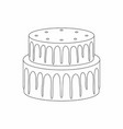 cake thin line style vector image vector image