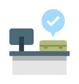 check-in service flat vector image