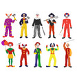 clown clownish character clowning on vector image vector image
