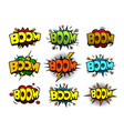 Comic cartoon style bubbles loud exlosion sound vector image