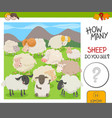 count the sheep activity worksheet vector image vector image
