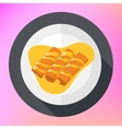 Crepes pancakes honey syrup flat vector image