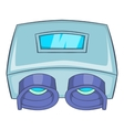 Eye checking machine icon cartoon style vector image vector image