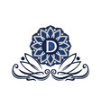 flower elegant icon initial d vector image vector image