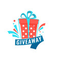 giveaway social media contest concept banner with vector image