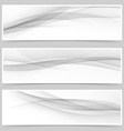 Grey soft line web header collection vector image vector image