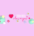 happy mother day 3d paper art floral web banner vector image vector image